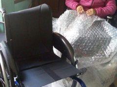 Reshma und ihr neuer Rollstuhl