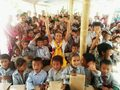 """Die temporäre Notunterkunft für die """"Aankura English School"""" in Bhimeshwor ist fertig"""