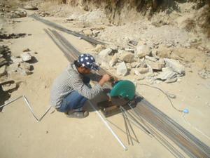 Stahlträger für die Erdbebensicherung