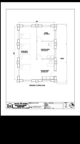 ein Bauplan des Projektes